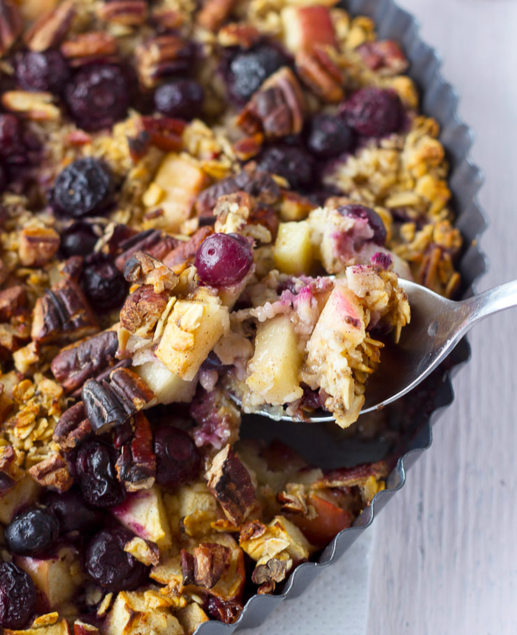 Blueberry Apple Pie Baked Oatmeal