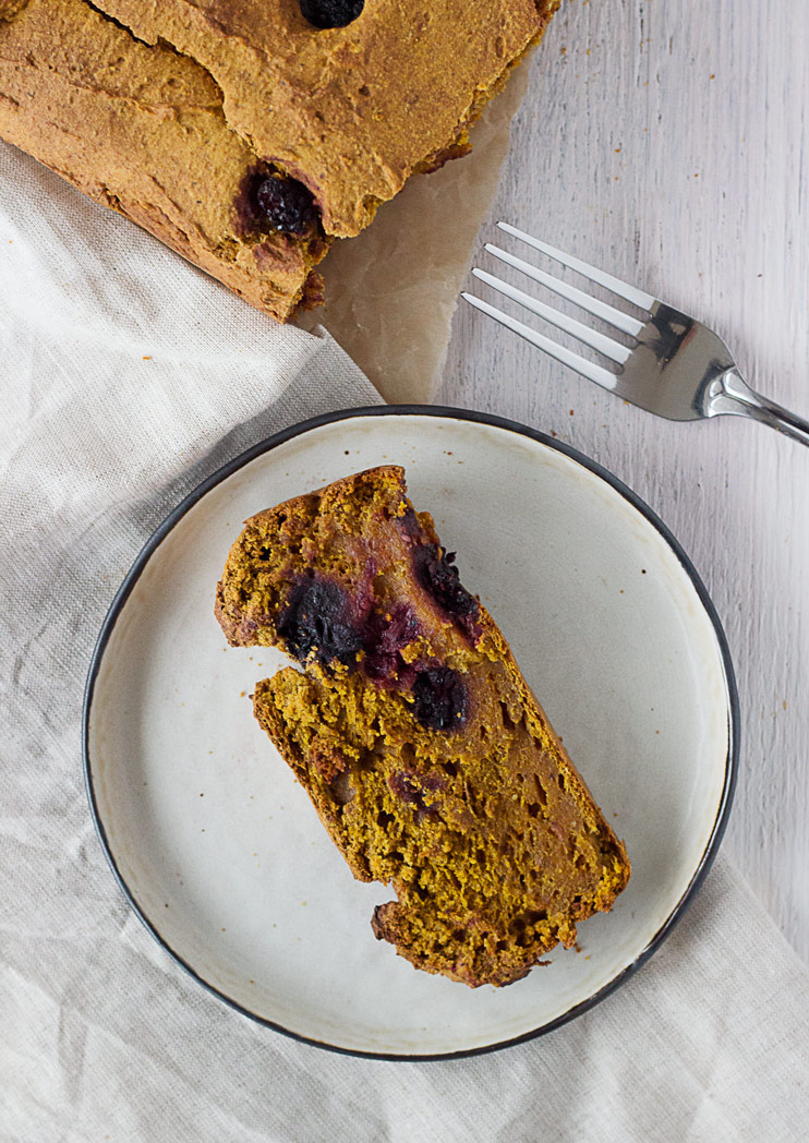 Sweet Potato Bread with Blackberries