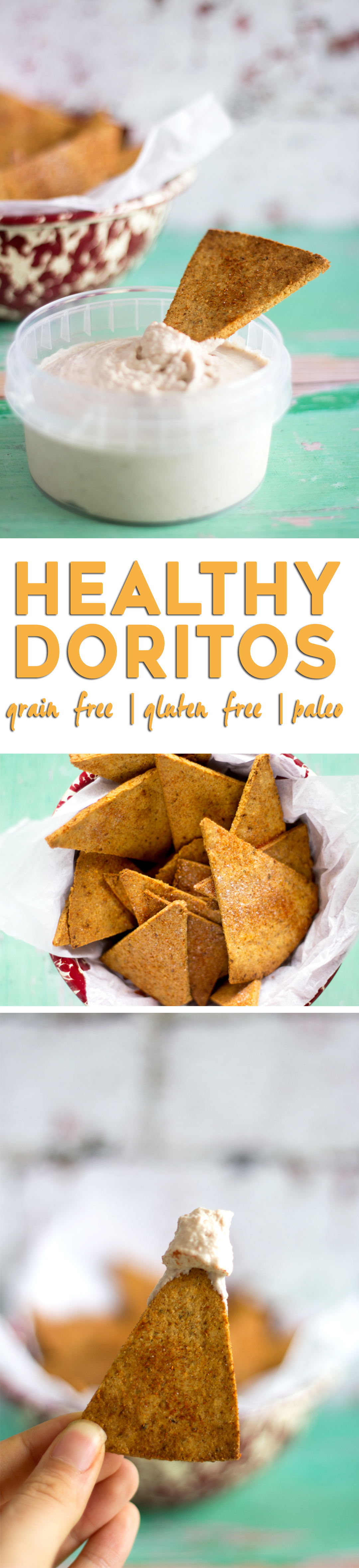 Low Carb & Oven Baked Tortilla Chips - Crispy paleo tortilla, perfect for dipping, like healthy Doritos!