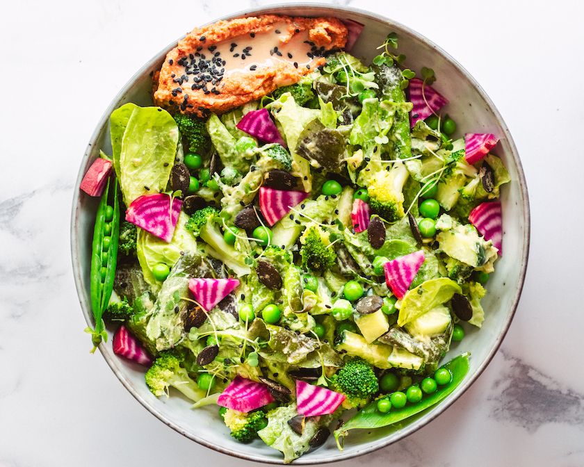 Spring Green Goddess Salad -- Healthy and FRESH!